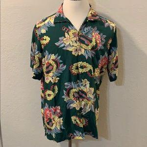Ralph Lauren Mens polo Hawaiian button up shirt